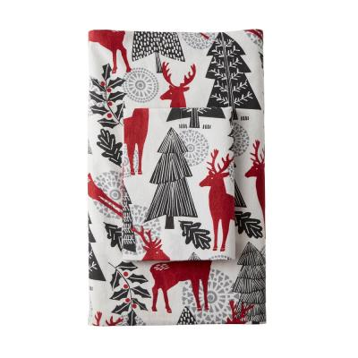 Reindeer Flannel Fitted Sheet