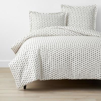Company Organic Cotton Mini Prints Sparkle Multi-Colored Cotton Percale Duvet Cover