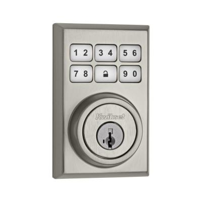 SmartCode 909 Contemporary Single Cylinder Satin Chrome Electronic Deadbolt