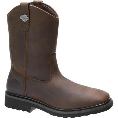 Men's Altman Waterproof Wellington Work Boots - Soft Toe