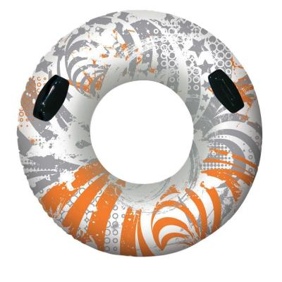 Orange and Gray 54 in. Vinyl Sport Tube Pool Inflatable