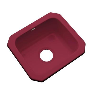 Thermocast Manchester Undermount Acrylic 16 in. 0-Hole Single Bowl Entertainment Sink in Ruby
