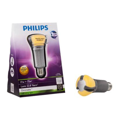 Philips 17-Watt (75W) A21 Household Soft White (2700K) Dimmable LED Light Bulb (E*) (2-Pack) 422220