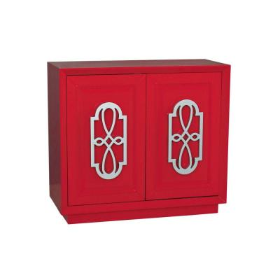 Accent Chest in Bright Red