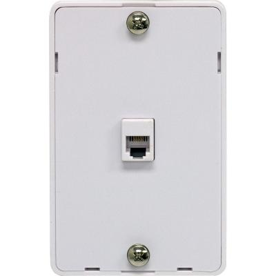 GE 1 Wall Jack Phone Mount Wall Plate - White