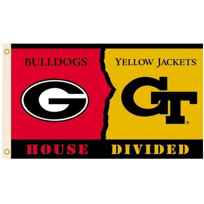 BSI Products NCAA 3 ft. x 5 ft. Georgia/GA Tech Rivalry House Divided Flag