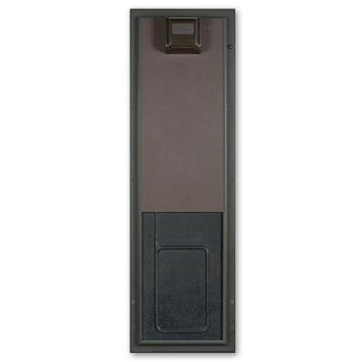 12.75 in. x 20 in. Large Bronze Wall Mount Electronic Dog Door Product Photo