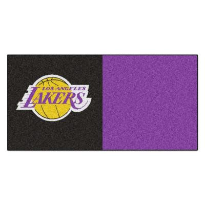 NBA - Los Angeles Lakers Black and Purple Pattern 18 in.
