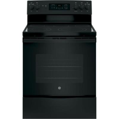 30 in. 5.3 cu. ft. Free-Standing Electric Range in Black