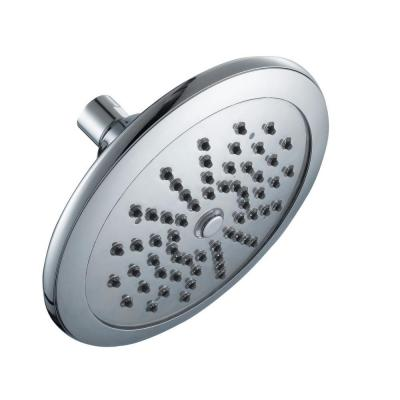 Glacier Bay Water Powered LED Lighted 1-Spray 7 in. Fixed Shower Head in Chrome