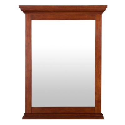 Admiral 23-1/2 in. L x 30-3/4 in. W Wall Mirror in Walnut Product Photo