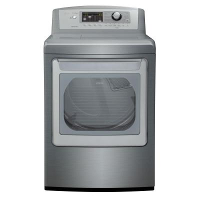 LG Electronics 7.3 cu. ft. Gas Dryer with Steam in Graphite Steel