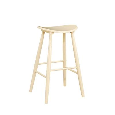 Linon Home Decor 24 in. Curve Bar Stool in Natural-DISCONTINUED