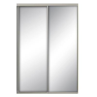 47 in. x 80.5 in. Savoy Mirror White Painted Steel Frame