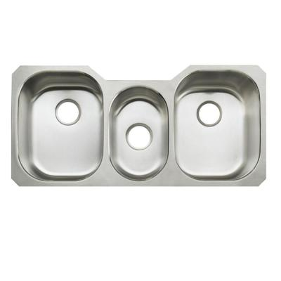 KOHLER Undertone Undercounter Stainless Steel 42 in. Triple Basin Kitchen Sink