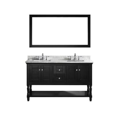 Julianna 60 in. W x 36 in. H Vanity with Marble
