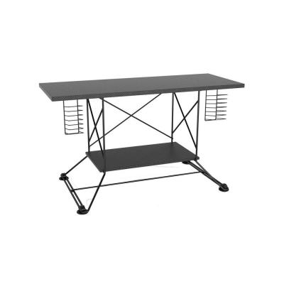 Atlantic Soho Black With Black Carbon Fiber TV Stand-DISCONTINUED