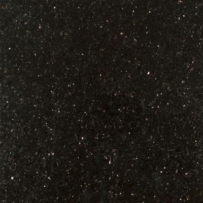 3 in. Granite Countertop Sample in Black Galaxy Product Photo