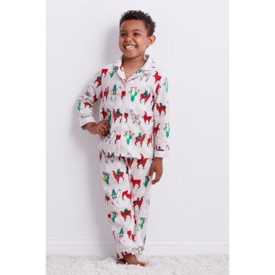 Family Flannel Kid's Llama 2-Piece Classic Pajama Set