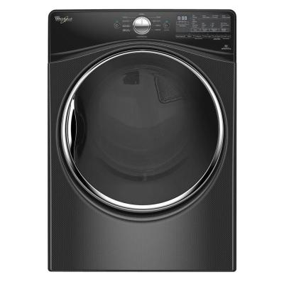 7.4 cu. ft. Electric Dryer with Steam in Black Diamond, ENERGY