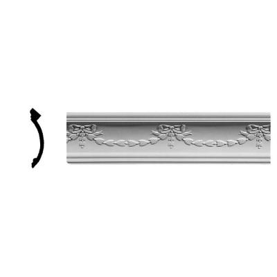 4-3/4 in. x 5-3/4 in. x 94-1/2 in. Polyurethane Federal Crown Moulding Product Photo
