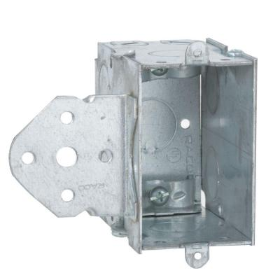 3-1/2 in. Deep Gangable Switch Box with 1/2 in KO's and B-Bracket Set Back 5/8 in. (25-Pack) Product Photo