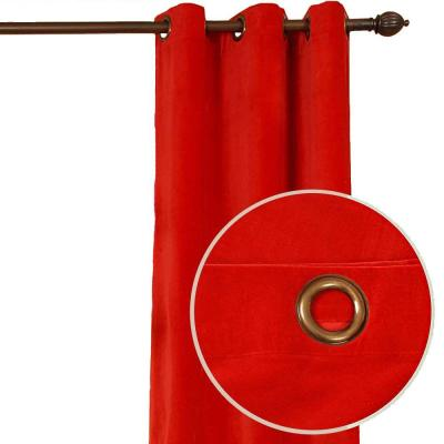 Home Decorators Collection Kavita Red Grommet Curtain