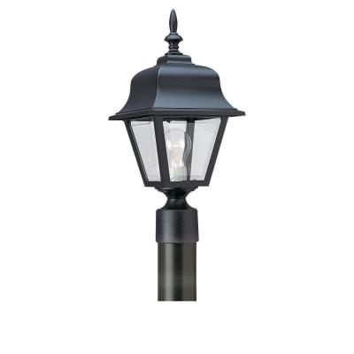 Painted Polycarbonate Lanterns Collection Black 1-Light Post Lantern Product Photo