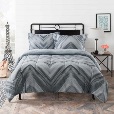 Linden Grey Geometric Diamond Comforter Set