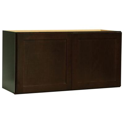 36x18x12 in. Shaker Wall Bridge Cabinet in Java Product Photo