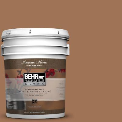 5-gal. #S240-6 Ranch Brown Matte Interior Paint