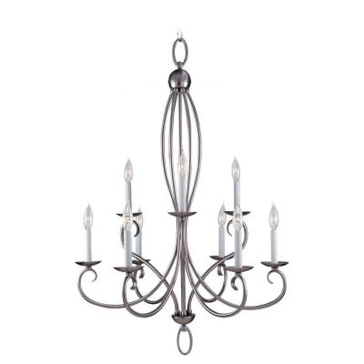 Sea Gull Lighting Pemberton 9-Light Brushed Nickel Multi Tier Chandelier 31075-962