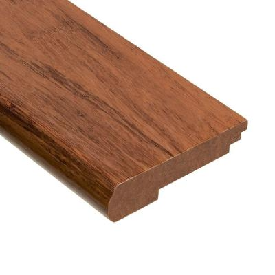Home Legend Strand Woven Toast 3/8 in. Thick x 3-3/8 in. Wide x 78 in. Length Bamboo Stair Nose Molding