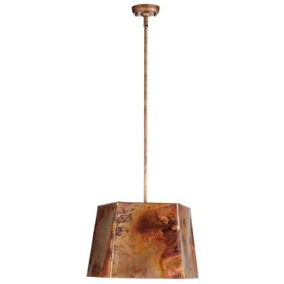 Filament Design Prospect 1 Light Copper Retro Art Pendant 05157 The Home Depot