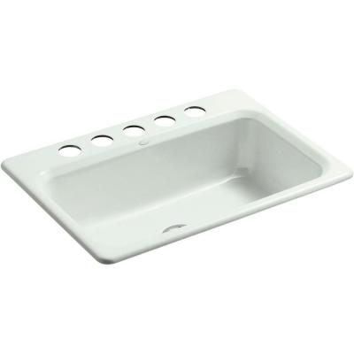 Kohler Riverby Undermount Cast Iron 27 In 5 Hole Single