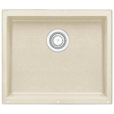 Precis Undermount Composite 21 in. Single Bowl Kitchen Sink in Biscuit