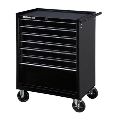 Stack-On 5 Drawer Roller Cabinet with Ball Bearing Slides in Black-DISCONTINUED