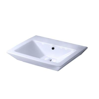 Aristocrat 18-1/2 in. Pedestal Sink Basin in White Product Photo