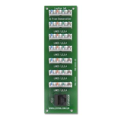 Leviton 1x6 Bridged Telephone Board for Compact Structured Media Enclosure-DISCONTINUED