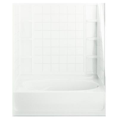 Ensemble 36 in. x 60 in. x 74-1/4 in. Bath and