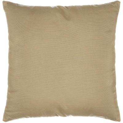 24 in. x 24 in. Spectrum Sand Decorative Pillow