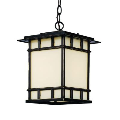 Bel Air Lighting 1-Light Rubbed Oil Bronze Outdoor Chateau View Hanging Lantern