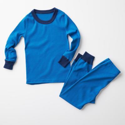 Family Snug-Fit Company Kid's Bright Blue Cotton Pajama Set