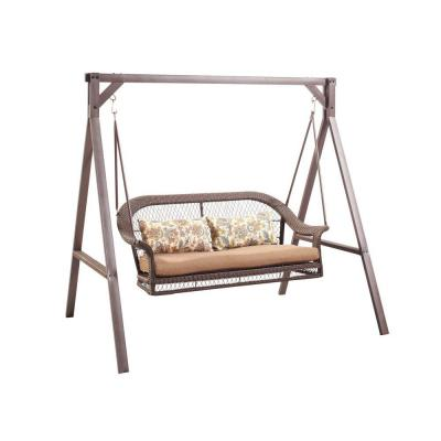 Wicker Patio Swing Gcs00180a The Home Depot