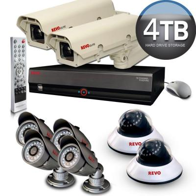 Revo Elite 16 CH 4TB Hard Drive Surveillance System with (6) Quick Connect Cameras and (2) Elite Cameras