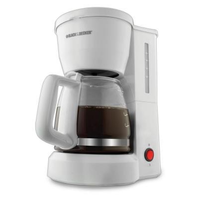 BLACK+DECKER 5-Cup Coffeemaker in White-DISCONTINUED