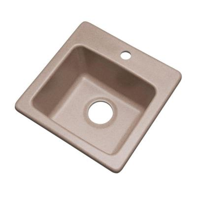 Mont Blanc Westminster Dual Mount Composite Granite 16 in. 1-Hole Single Basin Bar Sink in Desert Sand