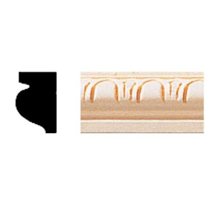 House of Fara 1/2 in. x 3/4 in. x 8 ft. Hardwood Cove Moulding