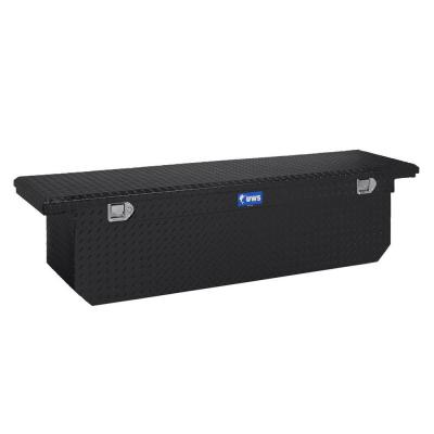 UWS 72 in. Aluminum Black Single Lid Crossover Tool Box with Deep Low Profile