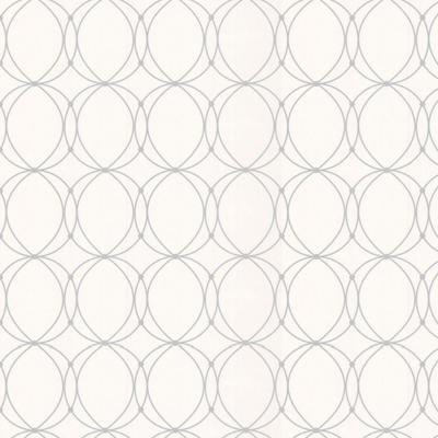 Graham & Brown 56 sq. ft. Darcy White Wallpaper